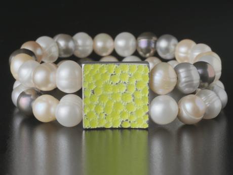 Armband mit Emaille - Fluktus Mosaik Uno