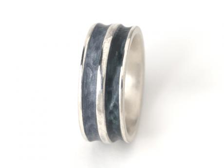 Emaille-Ring Iris Duo