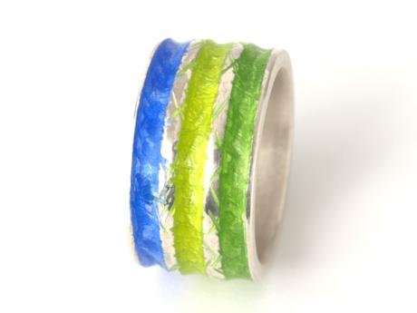 Emaille-Ring Iris Trio